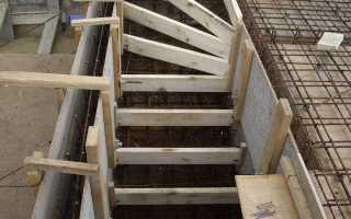 Армирование лестничного марша, ступеней лестницы