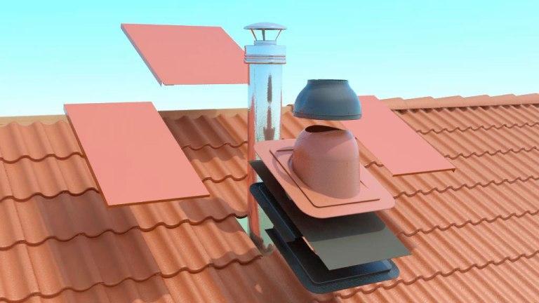 Вентиляционные узлы на крыше