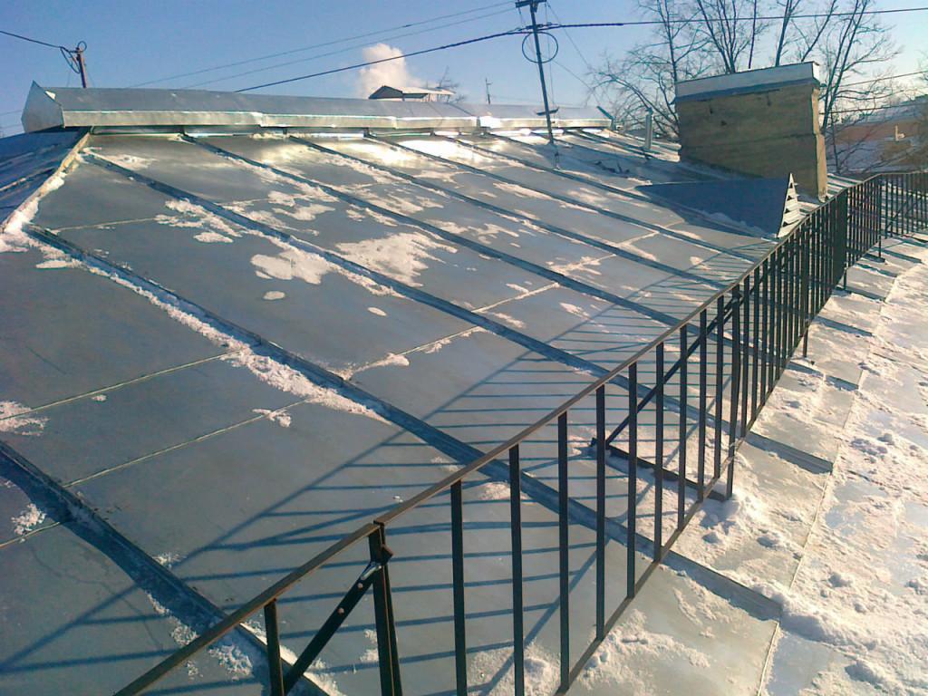 Ограждение неэксплуатируемой крыши