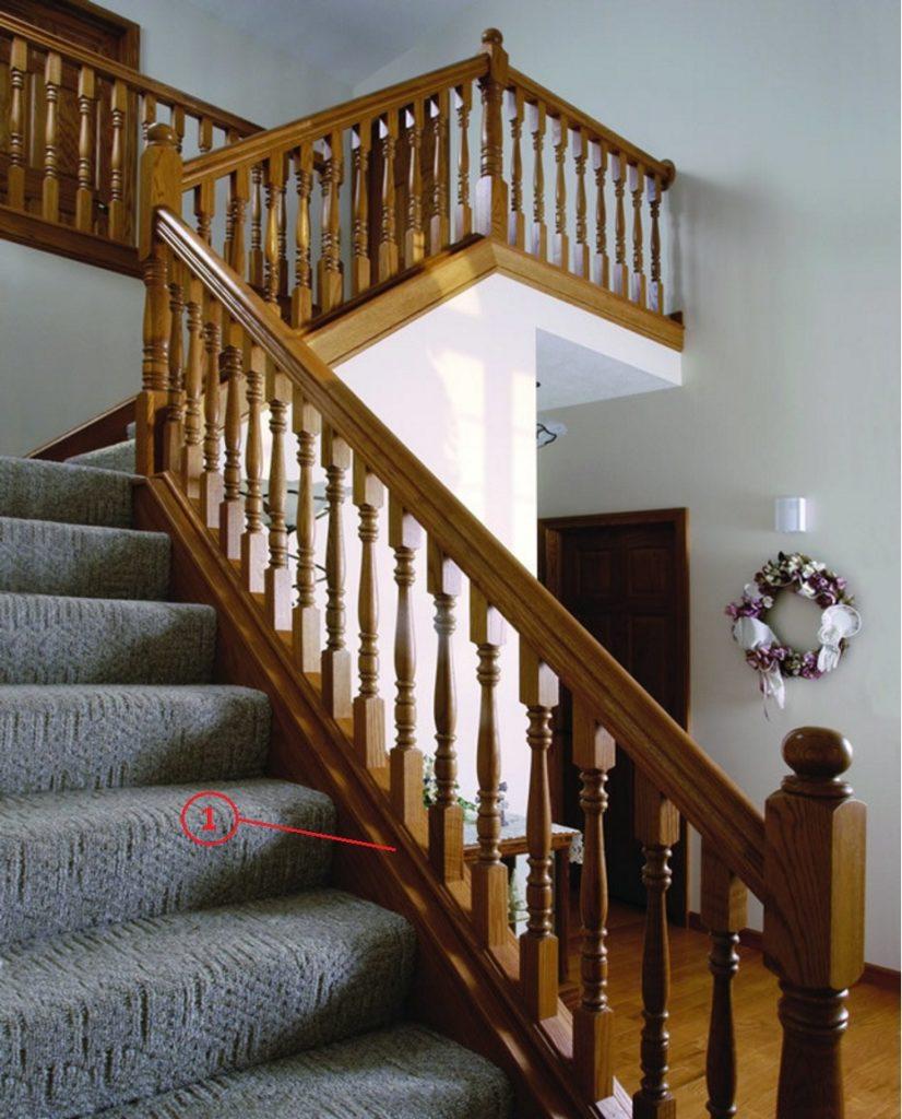 Ограждение установленное на тетиве лестницы