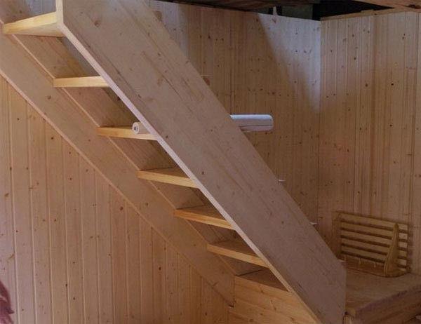 Готовая мансардная лестница