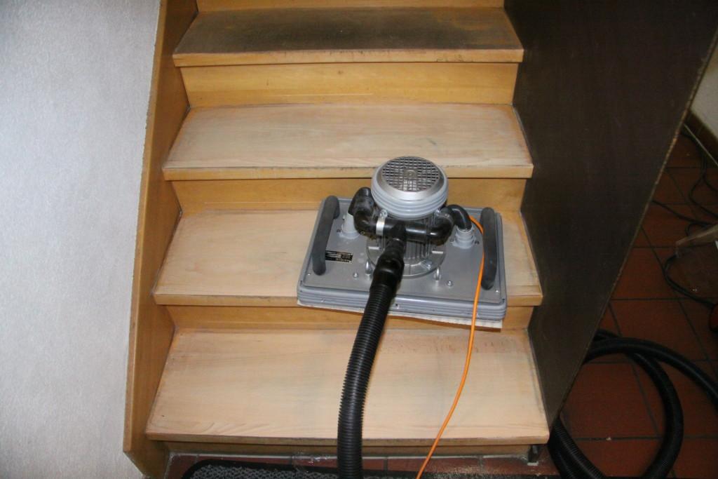 шлифовка лестницы
