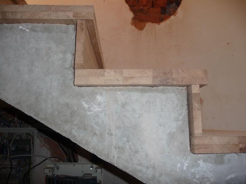 Облицовка бетонных ступеней деревянными