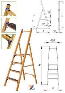 Диэлектрическая лестница-стремянка (схема)