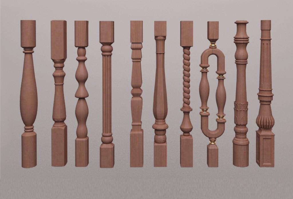 Дизайн декоративных балясин может быть самым разнообразным.