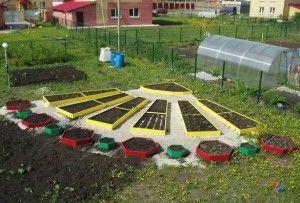 ограждения для грядок и клумб: садовая доска