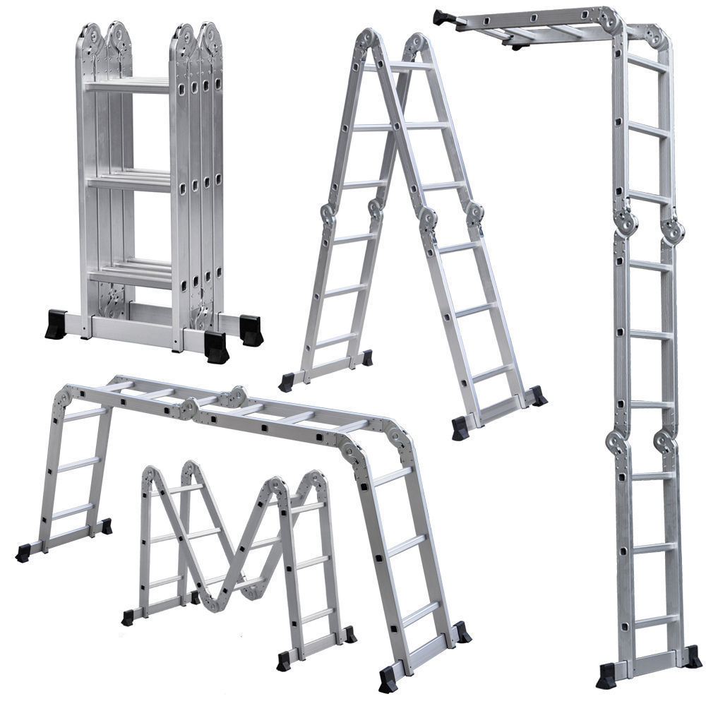 четырёхсекционная лестница-стремянка