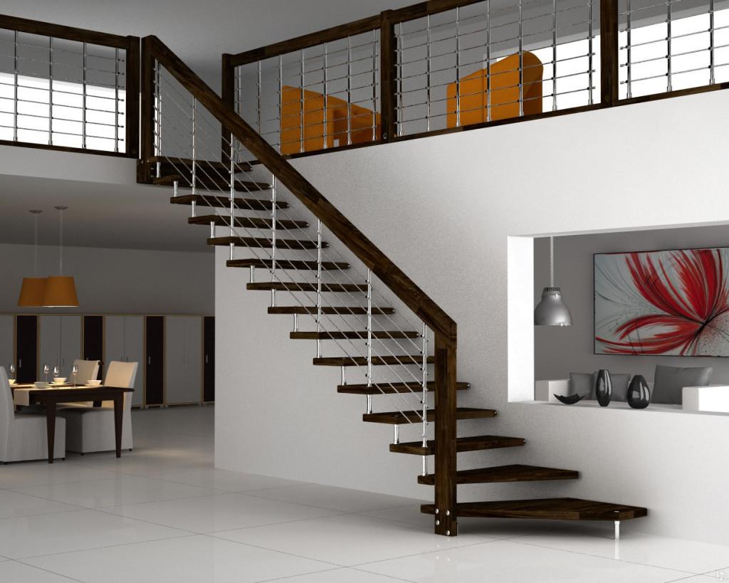 Больцевая лестница на поручне
