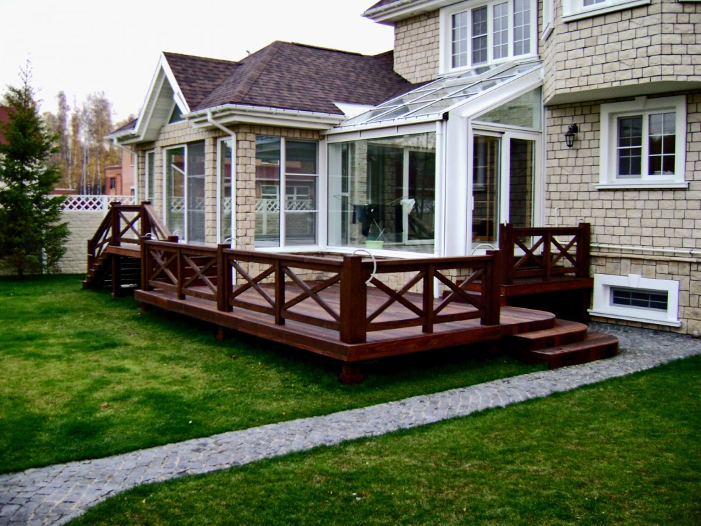 деревянные элементы террасы