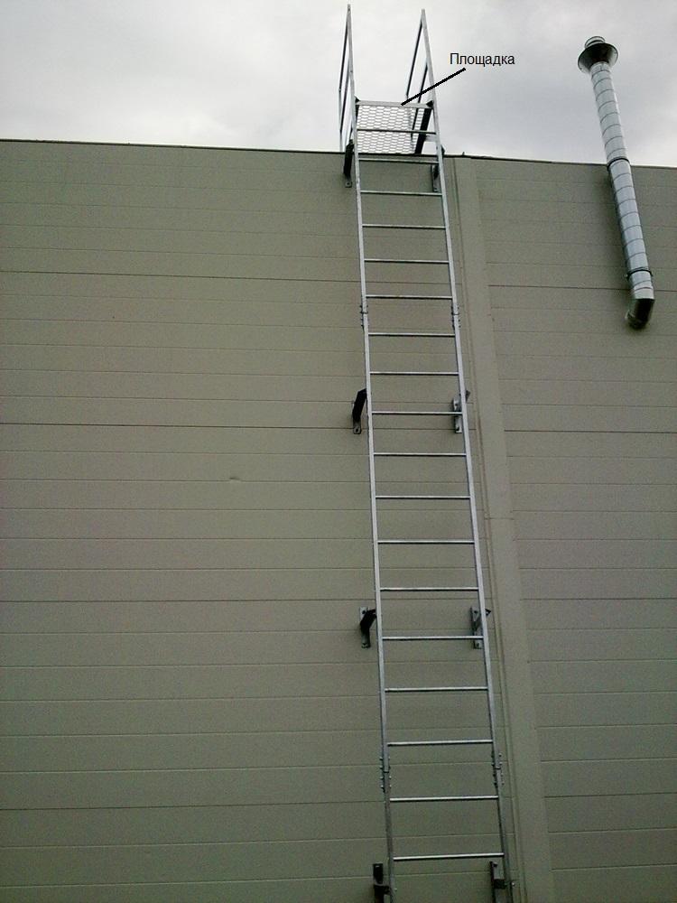 Площадка вертикальной лестницы