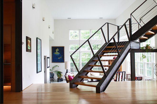 Своими руками металлическая лестница