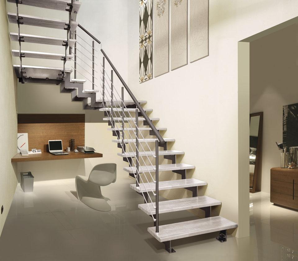 трехмаршевых лестницах