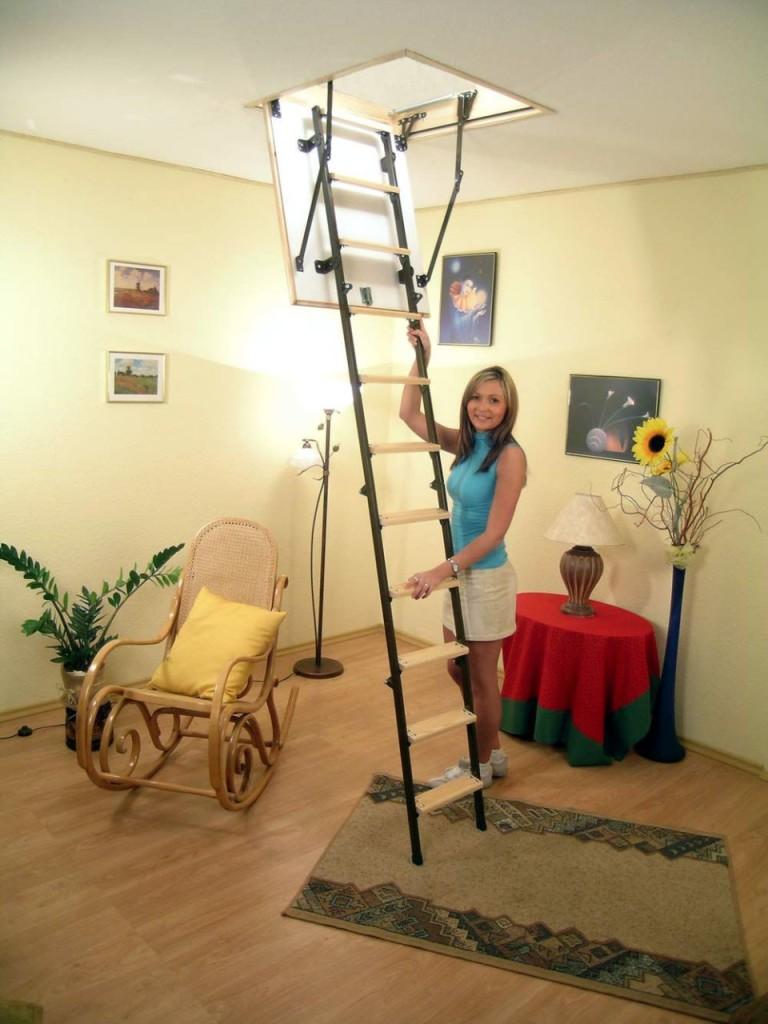 установка лестницей