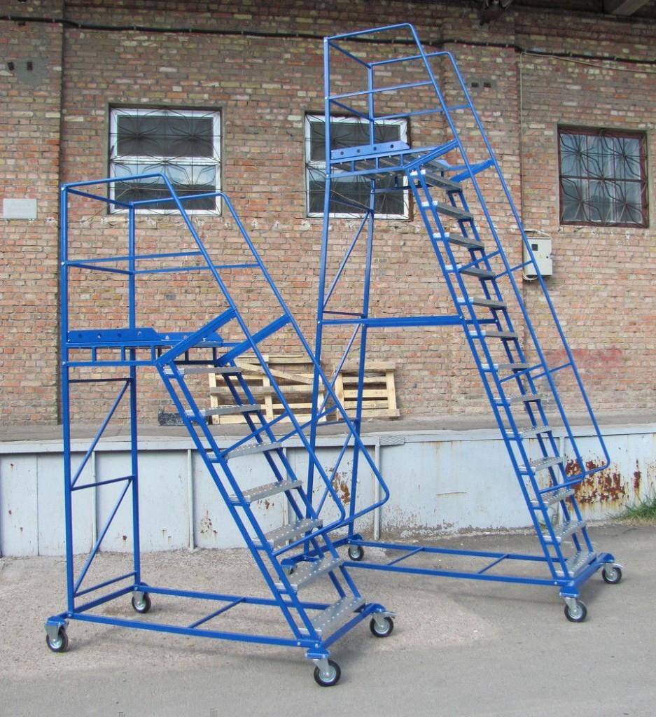 металлическая лестница платформа