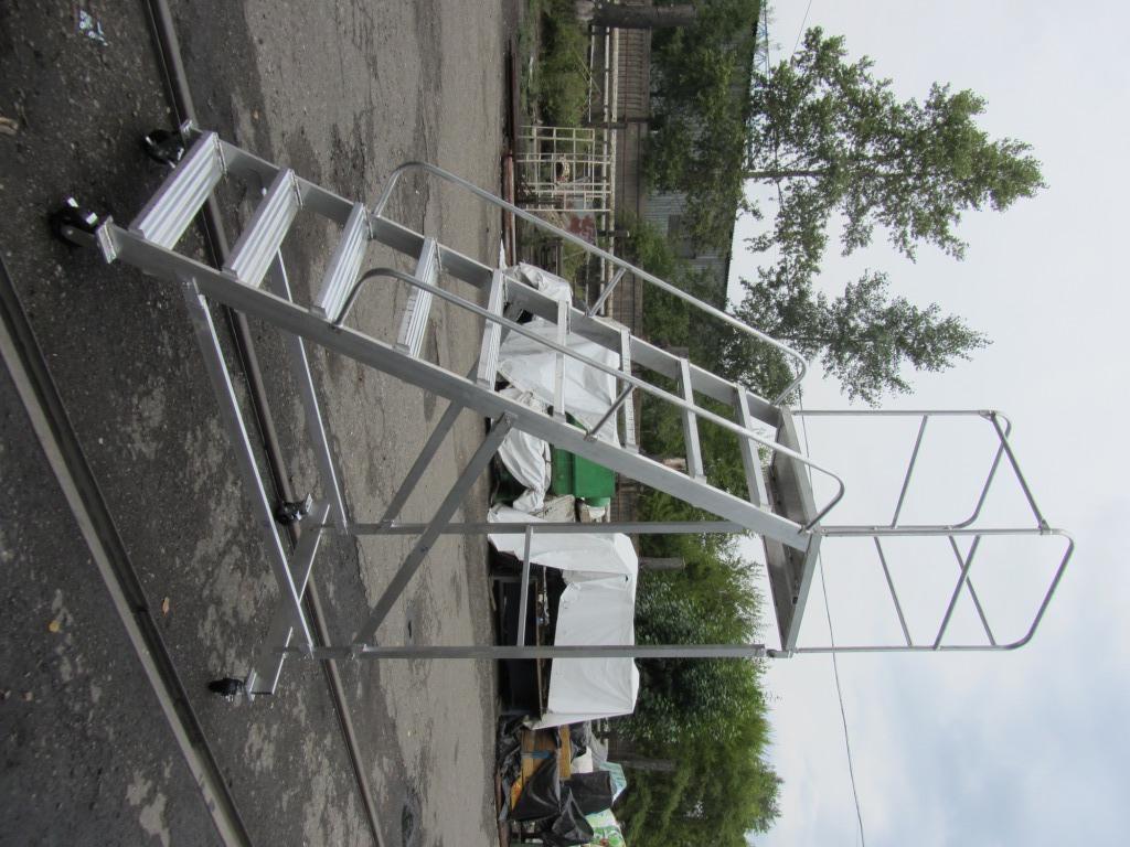алюминиевая лестница платформа