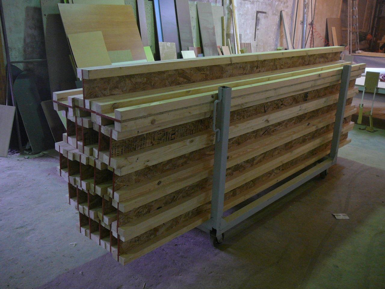 Деревянные балки перекрытия двутавровые