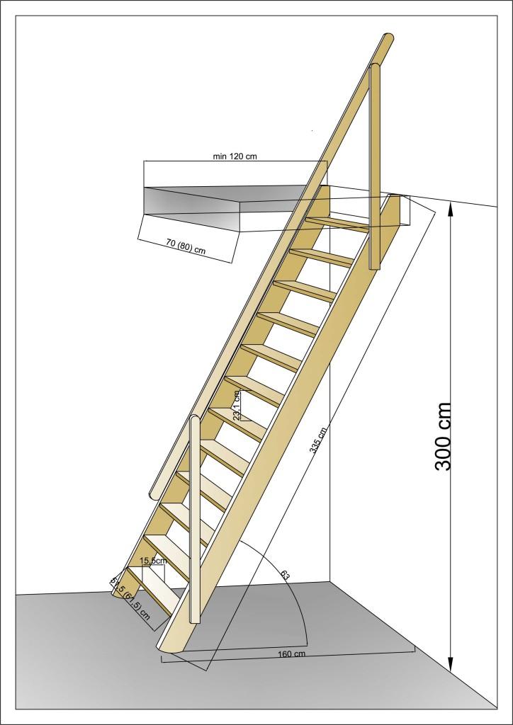 приставная лестница в подвал