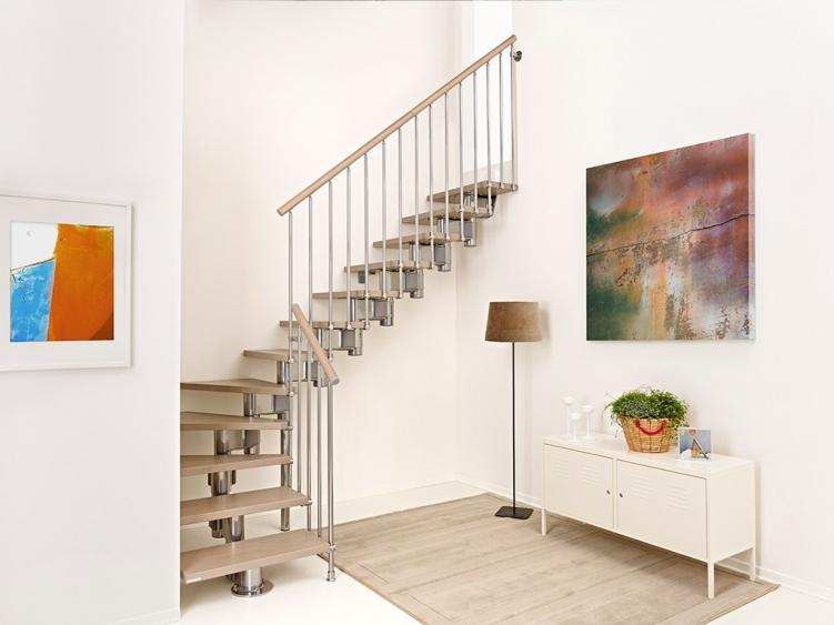 Конструкция г-образной лестницы