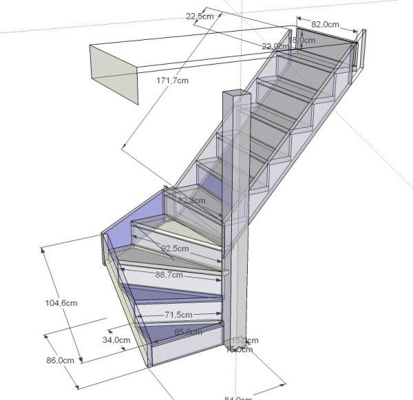 расчеты для лестницы