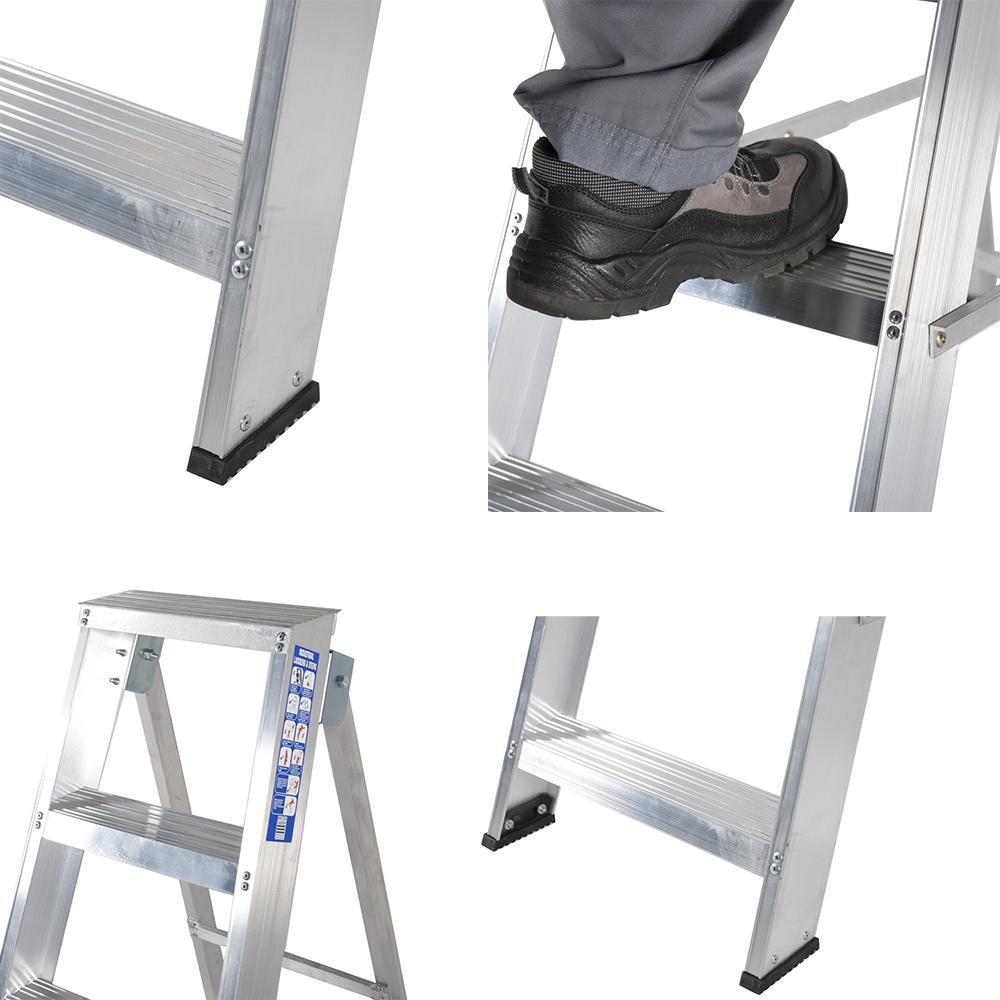 рифлёные ступеньки алюминиевых лестниц