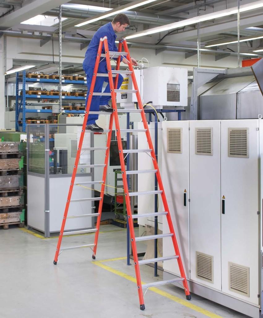 Стеклопластиковая диэлектрическая лестница