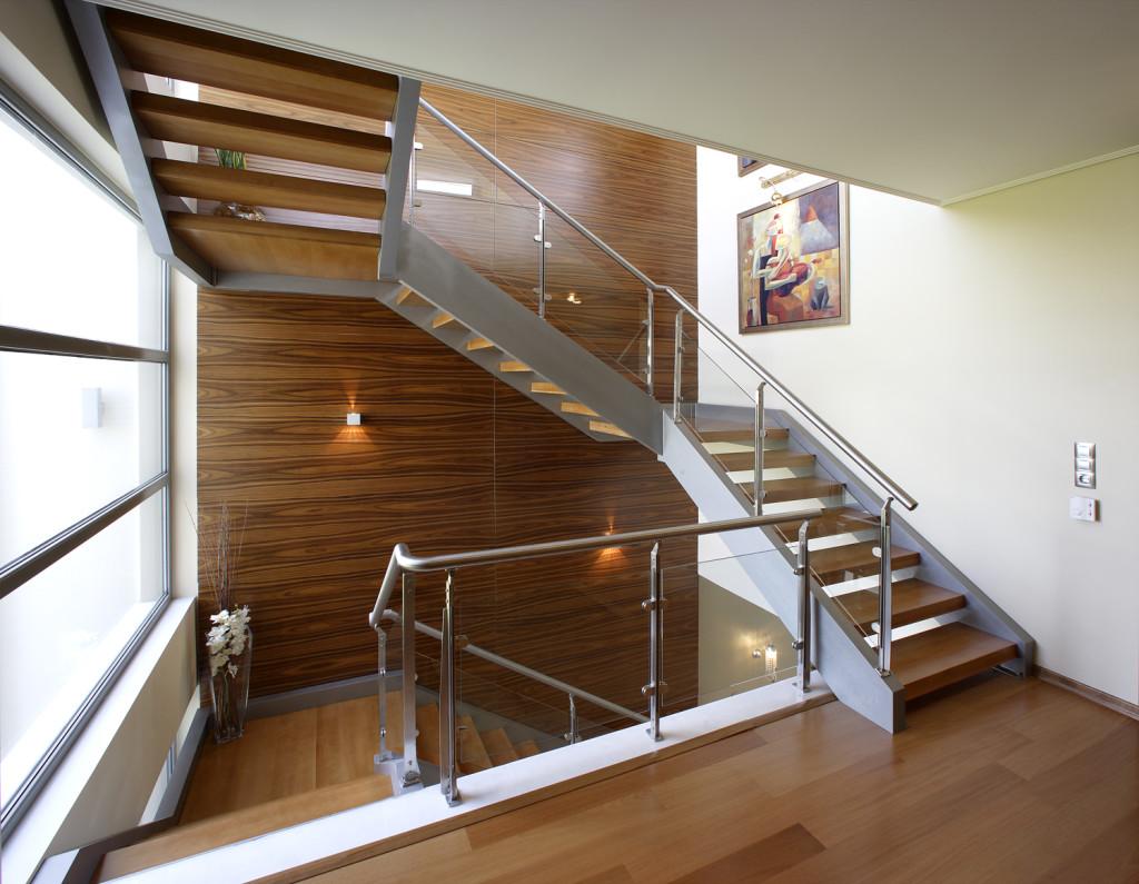 трехмаршевые лестницы
