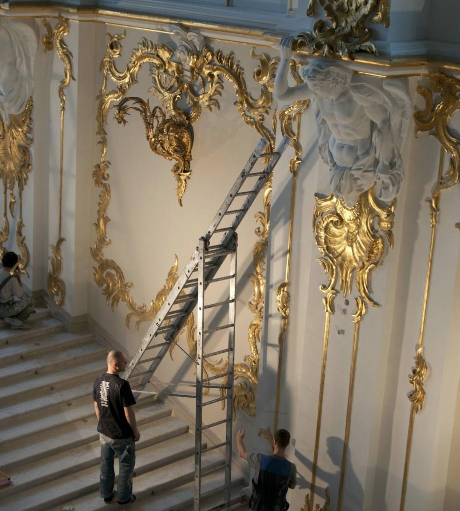 трехсекицонная лестница
