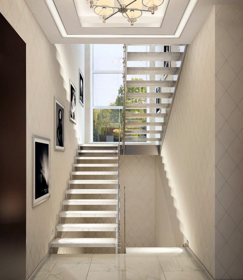 Лестница расположенная в клетке