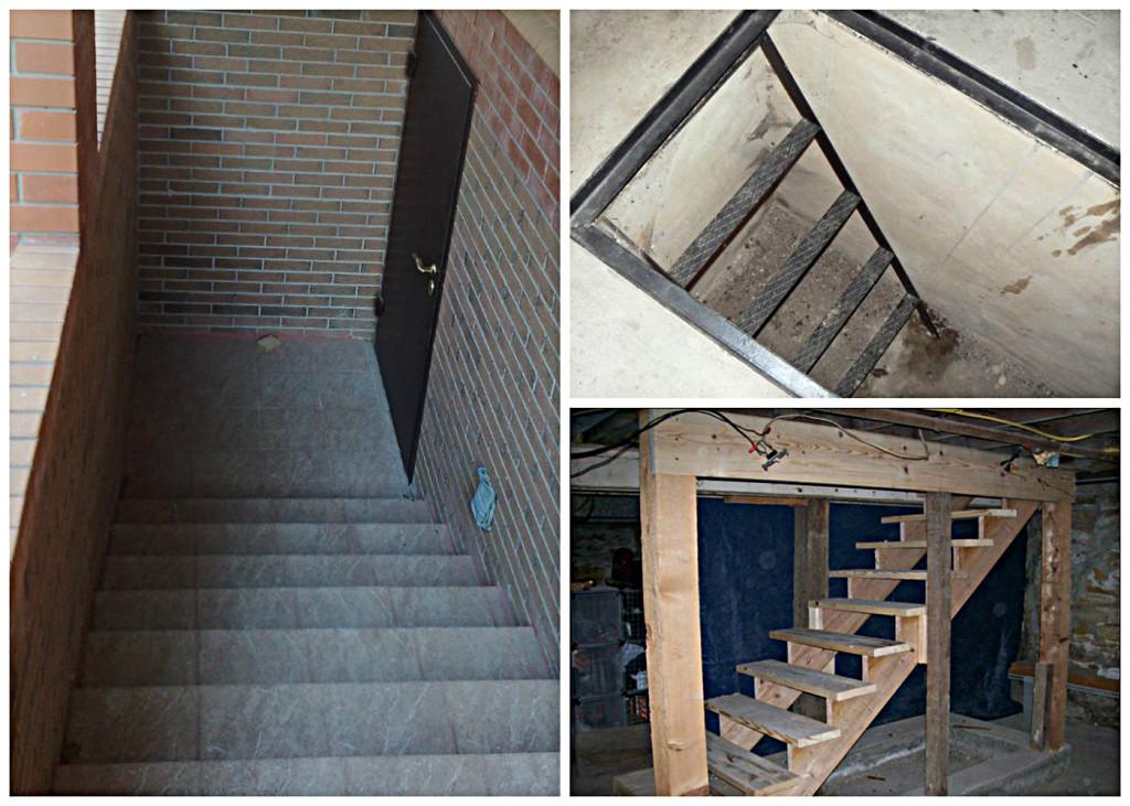 Лестницы в подвал