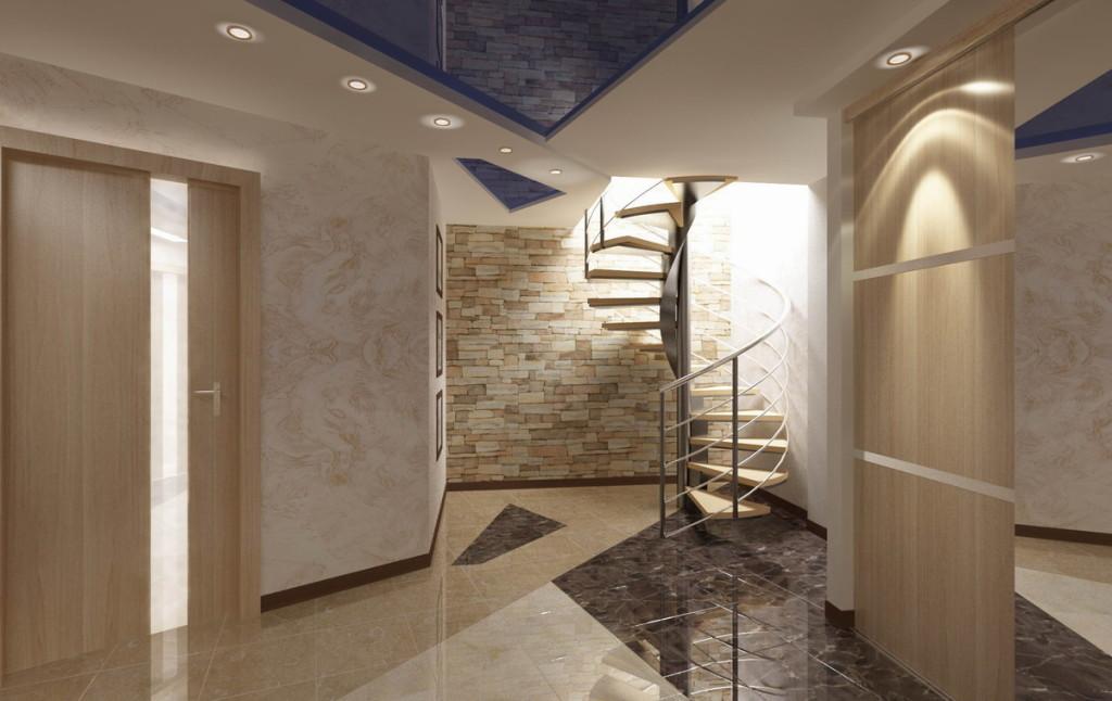 винтовыми лестницами